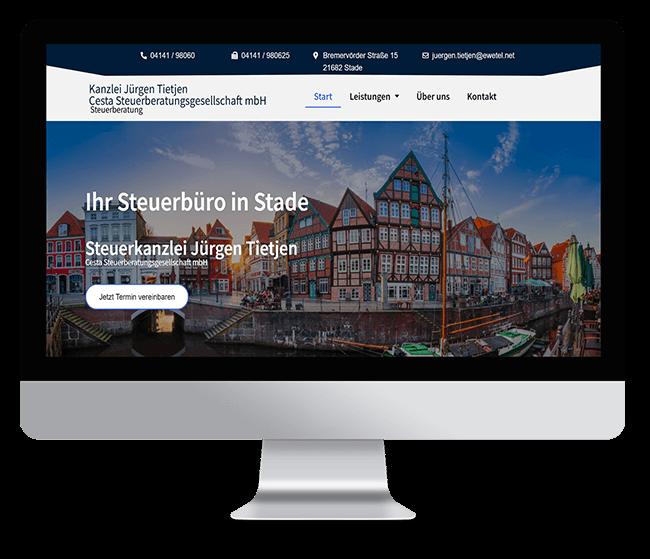 ReyeltMedia Webdesign Referenz Steuerbüro Tietjen